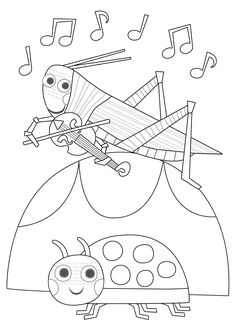 Resultado de imagen de halloween arts and crafts ideas Halloween Arts And Crafts, Crafts For Kids, Insect Coloring Pages, Free Printable Coloring Pages, Colorful Pictures, Clip Art, Drawings, Illustration, Fun