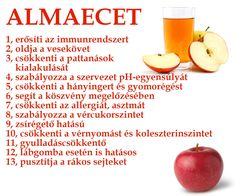Almaecet - 13 ok | Socialhealth Healthy Drinks, Healthy Recipes, Hungarian Recipes, Health Facts, Natural Healing, Health Remedies, Eating Well, Food Inspiration, Health And Beauty