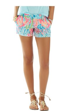 Callahan Short - Lilly Pulitzer Turquoise Lets Cha Cha Preppy Outfits, Preppy Style, Short Outfits, Summer Outfits, Cute Outfits, My Style, Summer Clothes, Mode Shorts, Classy And Fabulous
