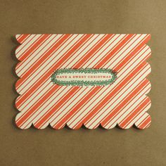 egg press striped holiday card