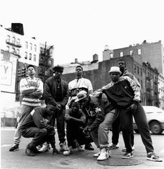 Photographed for the album cover, Ultramagnetic MC's posing on the Bowery in NYC.  © JANETTE BECKMAN, 1989