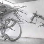 Monumental Splashes of Stainless Steel Calligraphy by Zheng Lu