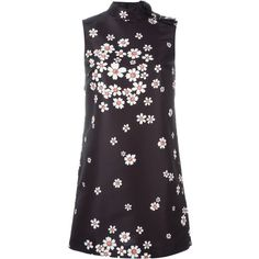 Red Valentino flower print dress ($610) ❤ liked on Polyvore featuring dresses, black, floral pattern dress, flower print dress, botanical dress, flower pattern dress and red valentino