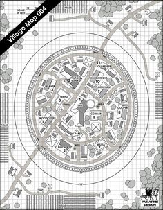 Village Map 004 - Paratime Design | Location Maps | DriveThruRPG.com