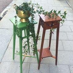 🌿🌺🍃För sommarens blommor, charmiga lättplacerade piedestaler🍃🌺🌿 Murgröna från @odlingsboden förstås!🌿🌿🍃 #plantera #piedestal #drottninggatan #drottninggatanuppsala #odhner #växter #vintage #retroinredning #retro #scandinaviandesign #sverige #svenskdesign #blommor .#blompiedestal#uppsala #uppsalacity #uppland #uppsalalän