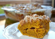 Cinnamon Streusel Pumpkin Cake - The Cookin Chicks Pumpkin Recipes, Cake Recipes, Dessert Recipes, Bread Recipes, Yummy Recipes, Breakfast Recipes, Fall Desserts, Delicious Desserts, Bakken