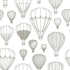 Find Air Balloons Set Pattern Vector Illustration stock images in HD and millions of other royalty-free stock photos, illustrations and vectors in the Shutterstock collection. Air Balloon Tattoo, Balloon Wall, Bullet Journal Ideas Pages, Bullet Journal Inspiration, Triangle Print, Desenho Tattoo, Doodles, Drawings, Tattoo Ideas