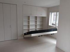 壁収納ベッド(標準品~特注)横型 格納ベッド、格安オーダー Renofurniture(リノファニチャー) 壁面収納のベッド!狭小住宅にも!