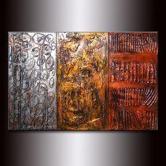 Peinture abstraite moderne métallique épaisse TITRE: VOIX AU SEIN DE DIMENSIONS: 36 X 24 «X3/4» (FINITION À HAUTE BRILLANCE, TEXTURE RICHE, MÉTALLIQUE) PEINTURE sur commande - peinture abstraite moderne contemporaine originale par Henry parsinia. La peinture sera similaire à