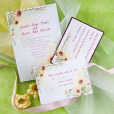 Chic yellow sunflower wedding invitations EWI013 as low as $0.94 |