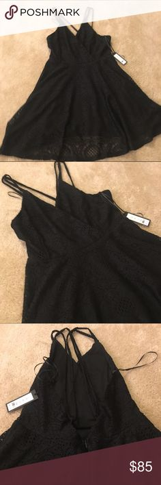NWT Romeo & Juliet Couture Lace Dress Romeo and Juliet Couture lace flare dress. Very strappy open back. Super cute. Originally $155. Romeo & Juliet Couture Dresses