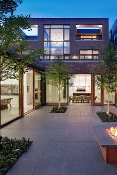 Modern-Patio-Design-with-Fire-Pit-Mid-North-Residence-Exterior.