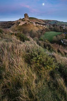 Lovely Medieval castle landscape during Autumn dusk light with m by Matt Gibson / 500px