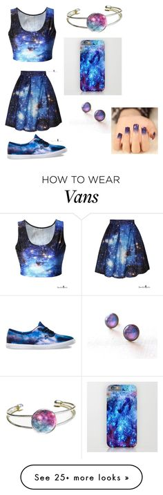 """Galaxy"" by juneisbest on Polyvore featuring Vans, women's clothing, women…"