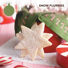 Taste of Home's Cookie Countdown: Snow Flurries | Mary Ann Ludwig of Edwardsville, Illinois shares this recipe for star-shaped sandwich cookies that will look simply stunning when displayed on your Christmas cookie trays!