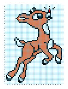 Cro Knit Inspired Creations By Luvs2knit: Rudolph Chart Pattern By Luvs2knit