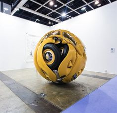 A Vintage 1953 Volkswagen Beetle Sculpted Into A Perfect Sphere