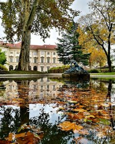 We can't get enough of this! Vienna just looks like a painting these days! 🍁✨😍 Pic by The Parks, Castle Wall, Garden Park, Top Place, Vienna Austria, Private Garden, Canning, Architecture, Europe