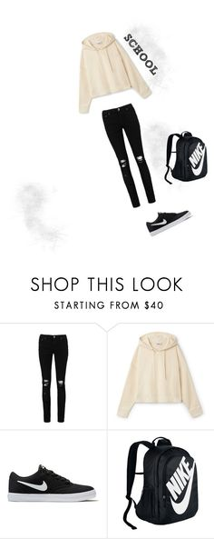 """School set"" by viki-pokorna ❤ liked on Polyvore featuring Boohoo and NIKE"