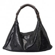 black / blue fashion leather convertible crossbody shoulder bag for women-leather womens shoulder bags