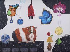 """Horváth Kincső Art az Instagramon: """"Hallucináció 2. (akril, vászon, 2017) 😄🤯❤️ #tengerimalac #bettafish #orchidea #io #r2d2 #acrylicpainting #contemporaryart #art #painting…"""" Painting, Art, Instagram, Art Background, Painting Art, Kunst, Paintings, Performing Arts, Painted Canvas"""