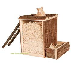 Trixie Natural Living Spiel- und Buddelturm Hamster