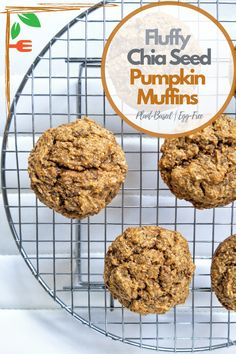 Chia seed pumpkin muffins that are egg-free, dairy-free, and packed with fiber. The perfect recipe for the fall and winter season. #plantbased #mufffins #desserts #easy #fall #fallrecipes #falldesserts #vegetarian #healthy #baking #pumpkin #pumpkinmuffins #pumpkinpiespice #fall #autumn #autumnrecipes Fall Recipes, Sweet Recipes, Snack Recipes, Pumpkin Pie Spice, Pumpkin Puree, Plant Based Snacks, Plant Based Breakfast, Sweet Breakfast, Fall Desserts