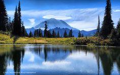 A lenticular cloud over Mt Rainier on Chinook Pass