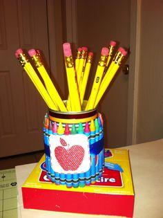 crayon can pencil holder