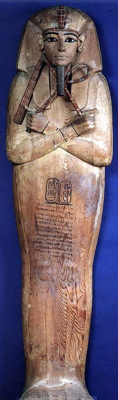 Ramses II Coffin. Found in the royal cache at Deir el-Bahari. DB320.