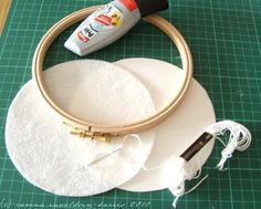 Embroidery hoop framing tutorial