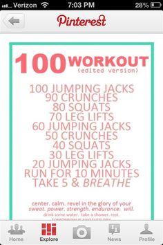 100 workout