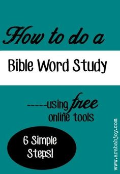 Check out these 6 simple steps to do a Bible word study online using free tools. Every Christian should know how to do this!
