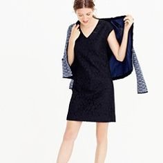 Women's New Arrivals : Dresses, Shoes & More | J.Crew Lace dress with tweed jacket or knit cardigan