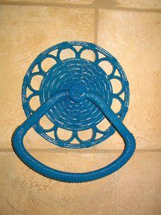 Lagoon Blue Vintage HOMCO Towel Holder Rack by goshthatsposh, $12.50