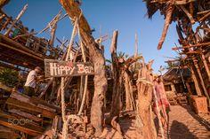 Hippy Bar, Thailand   #hippy #bar #thailand #editorial #travel #kohphayam #tropical #beach #buffalobay #driftwood #construction