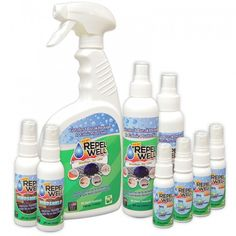 Repel Well Family Bundle:  Repel Well Fabric Protection: 1 – 4oz bottle 1 – 8oz bottle 1 – 24oz bottle Repel Well Windshield: 2 – 2oz bottles Repel Well Cell/Tablet: 4 – 1 oz bottles