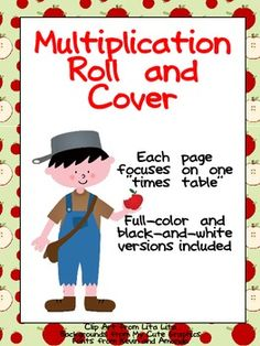"""Do your students need extra practice with multiplication facts? This packet might be able to help!!This set has 22 """"roll and color"""" multiplication pages... there is one page for each """"times table"""" from 2 to 12. There are full-color and black-and-white versions included. $"""