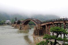 Kintai Bridge, a historical wooden arch bridge, Iwakuni Yamaguchi  岩国 錦帯橋 2008