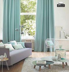 Rideaux salon on pinterest rideau salon curtains and salon - Decoration rideaux salon ...