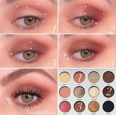Makeup tutorial eyeshadow palette soft smoke every day rose gold color, easy how. - Makeup tutorial eyeshadow palette soft smoke every day rose gold color, easy how… - Soft Eye Makeup, Korean Eye Makeup, Makeup Eye Looks, Eye Makeup Steps, Colorful Eye Makeup, Simple Eye Makeup, Skin Makeup, Makeup Eyeshadow, Eyeshadow Palette