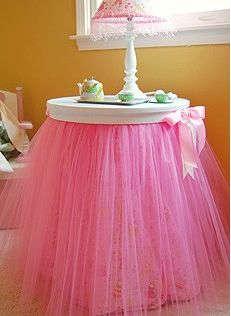 I have the perfect side table begging me to make this for my daughters room! ;)