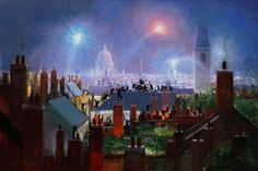 Mary Poppins - Sweeps Dance on the Rooftops of London by Peter Ellenshaw