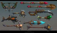 Draenor weapons by FirstKeeper