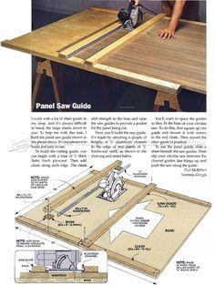DIY Circular Saw Guide - Circular Saw Tips, Jigs and Fixtures | WoodArchivist.com