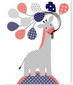 Giraffe Nursery Art, Baby Girl, Gray Coral Navy Nursery Decor, Zoo Nursery Art, Giraffe Canvas Art, Canvas Nursery Art, Baby Shower Gift by SweetPeaNurseryArt on Etsy Giraffe Nursery, Nursery Art, Nursery Decor, Coral Navy Nursery, Patch Aplique, Baby Shower Gifts, Canvas Art, Snoopy, Kids Rugs