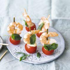Garnelen-Tomaten-Spieße