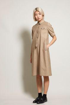 No.6 Lucinda Dress in Khaki Twill