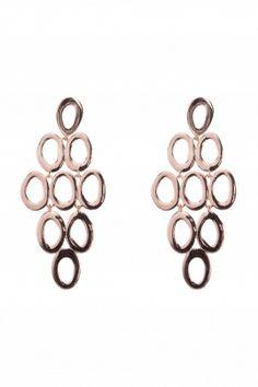 elips I rose gold plated #earrings I designed for NEW ONE I NEWONE-SHOP.COM