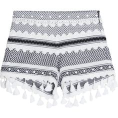 Dodo Bar Or Embellished lace-trimmed cotton-jacquard shorts ($210) ❤ liked on Polyvore featuring shorts, charcoal, studded shorts, lace trim shorts, slim shorts, slim fit shorts and tassel shorts